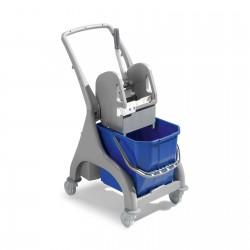 Wózek z rączką pojedynczym wiadrem i prasą