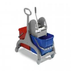 Wózek z dwoma wiadrami prasą rączką 50L