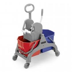 Wózek z dwoma wiadrami po15L i prasą